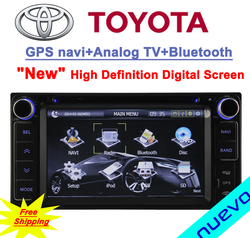 Free Shipping:2 DIN Toyota Car DVD GPS for Hilux/Fortuner/Innova/old camry/old corolla/old vios/old RAV4/old Prado(China (Mainland))