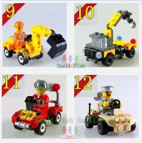 4PCS, Transformation Robots Toys, Excavators, Cranes, building Blocks, Compatible with lego,Free Shipping& Wholesale(China (Mainland))