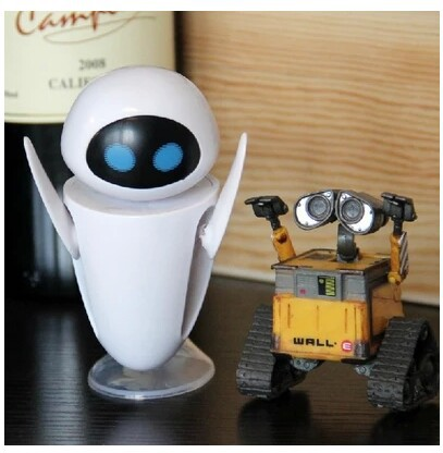 WALL-E EVE action robot figure action figures cartoon movie toy doll WALL E educational toys for kids 360 degree rotation(China (Mainland))