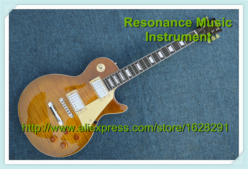 100% Real Pictures One Piece Body & Neck Guitar LP Standard Custom Guitar & Kit Available(China (Mainland))
