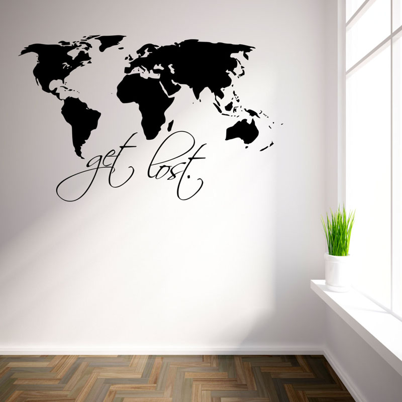 Removable Vinyl Wall Decor : Get lost art wall decals for living room removable vinyl