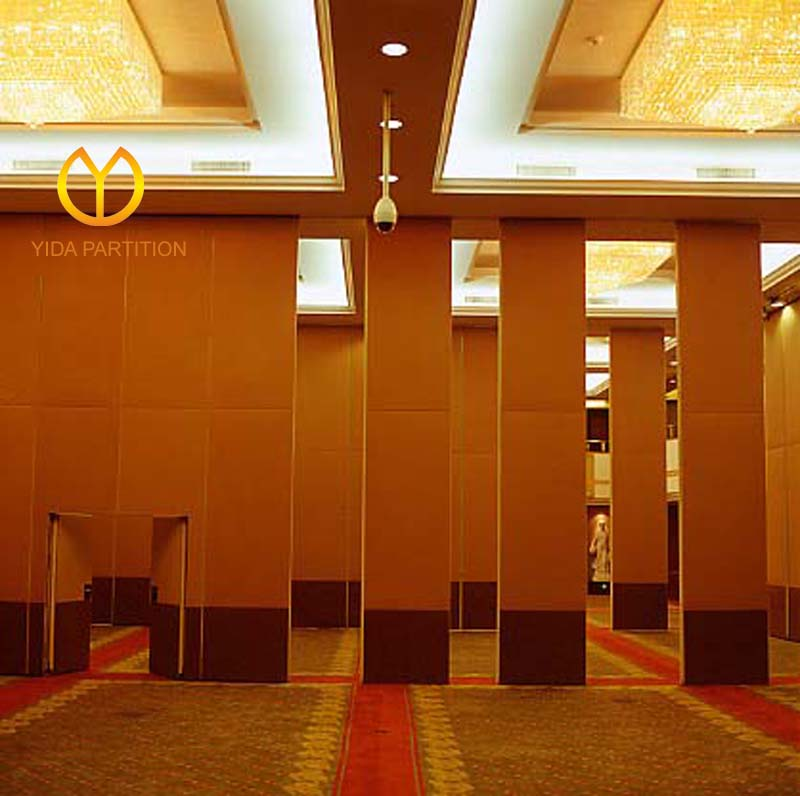 Acoustic Partition Wall Soft Fabric Finishing Hotel Interior Decoration Movable Partition Wall