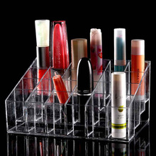 Hot Selling Clear 24 Makeup Lipstick Cosmetic Storage Display Stand Holder(China (Mainland))