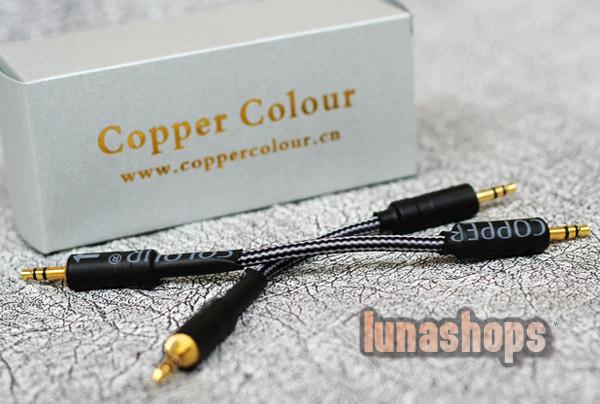 Copper Colour CC 8cs 3.5mm male to male Hifi Audio cable for HifiMan AMP DAC 10cm<br><br>Aliexpress