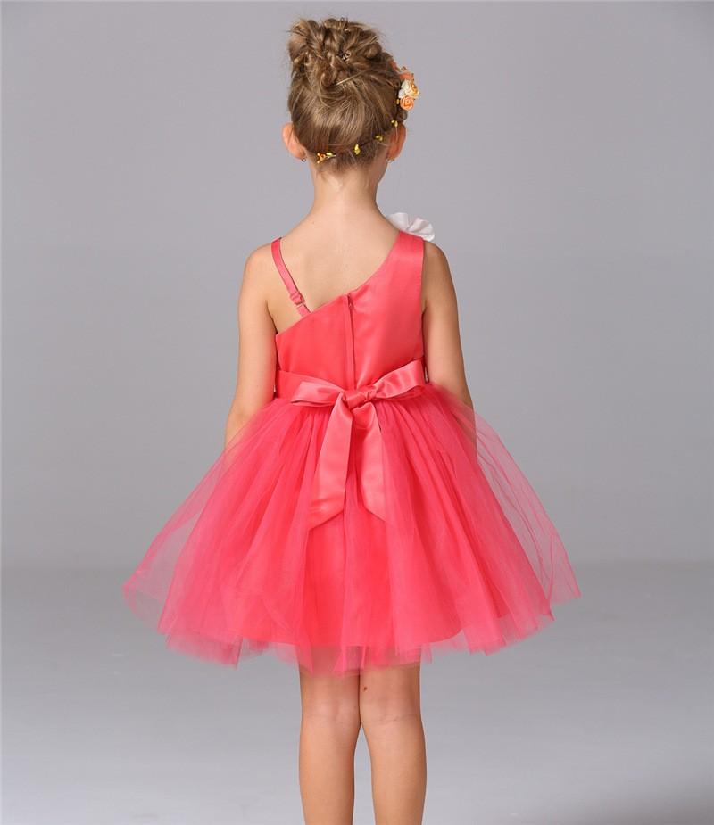 Скидки на Новый Летний Тюль Цветочница Платья на День Рождения Рождество Свадьба Белый Розовый Красный Дети Новорожденных Девочек Принцесса Платье Одежда