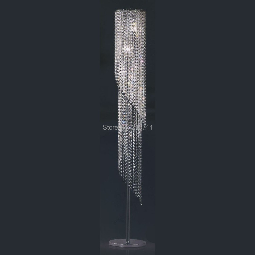 2015 hot sale modern home decoration living room bedroom k9 crystal floor lamp,standard lamp