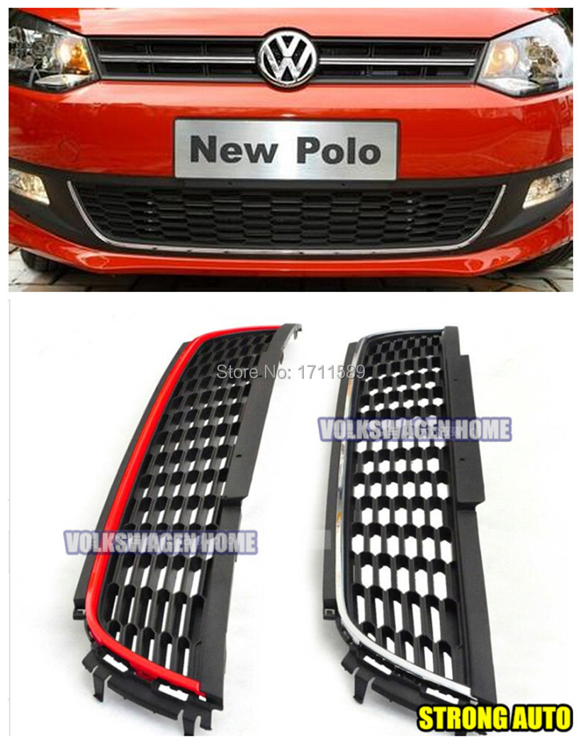 New Polo Gti Grille Vw Lower Front Car Bumper Mesh Grille