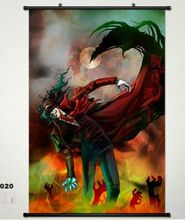 Home Decor Japanese Anime Wall poster Scroll Hellsing Alucard Cosplay 020