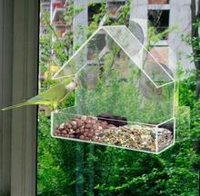 Fenster futterhäuschen KLARGLAS FENSTER BETRACHTUNG VOGELHÄUSCHEN HOTEL TISCH SAMEN ERDNUSS HÄNGEN SAUG(China (Mainland))