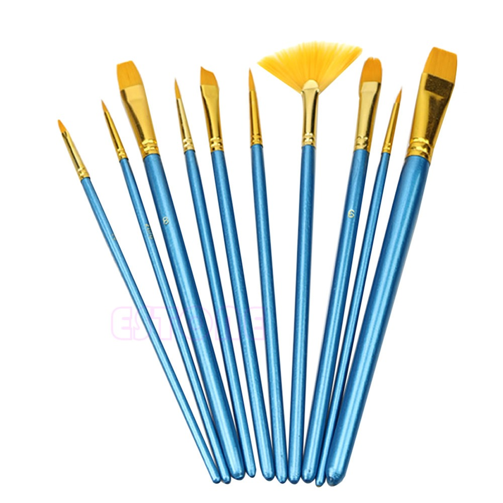 J34 Free Shipping 1 Set Nylon Hair Acrylic Watercolor Flabellum Pointed Tip Artists Paint Brush<br><br>Aliexpress