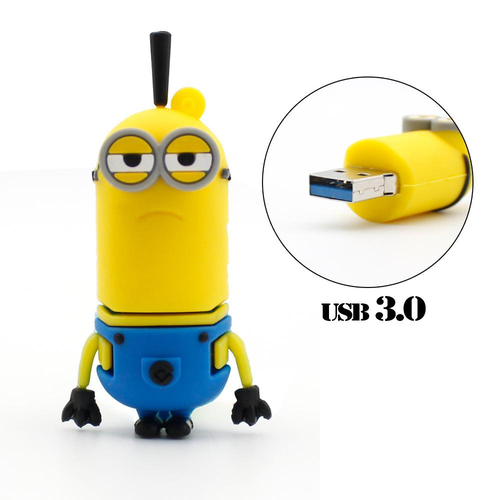 Minions USB 3.0 USB Flash Drive High Running Speed Tim Minion Pen Drive Cartoon Pendrive free shipping USB stick gift(China (Mainland))