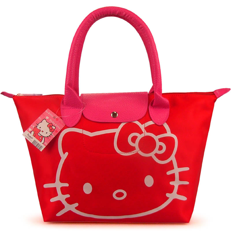 Amazing Brand Women Female Ladies Casual Bags Leather Hello Kitty Handbags