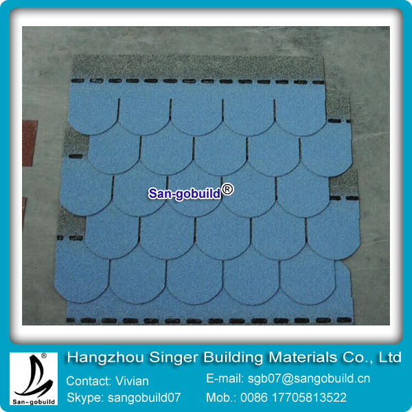 Iso 9001 approved colored fish scale sample roofing for Fish scale shingles
