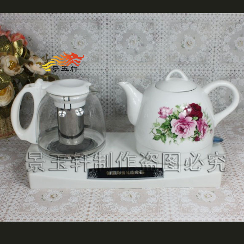 Rich flowers ceramic electric kettle Electric Kettle Tea Set Intelligent Insulation(China (Mainland))