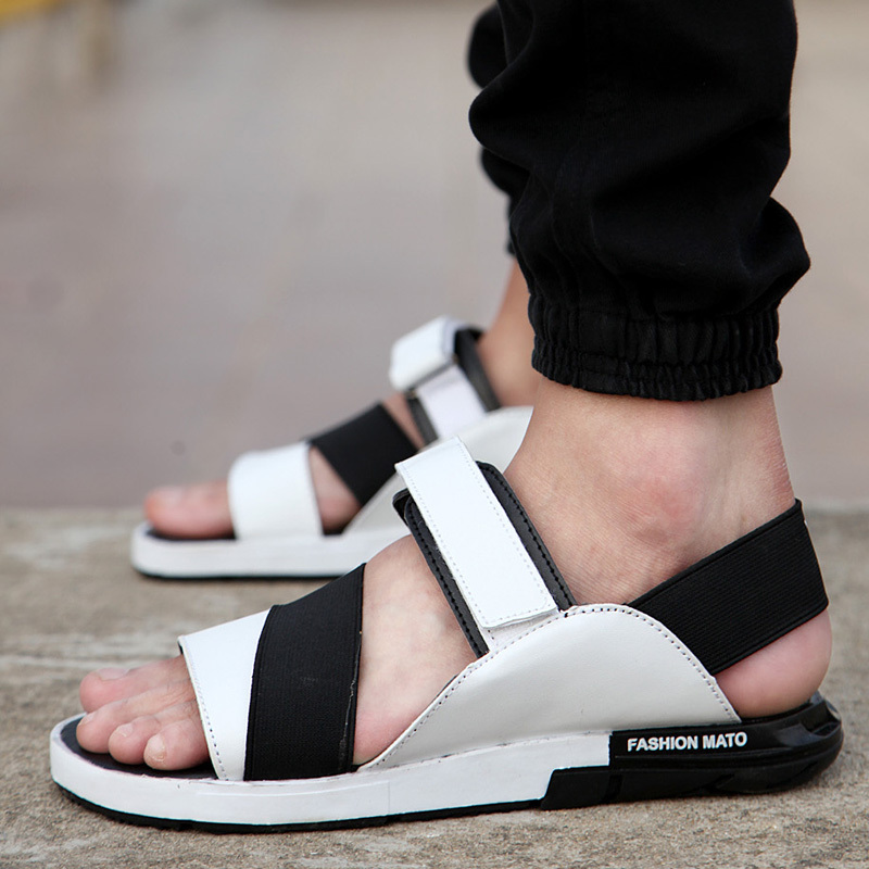 2015new Summer Style Men Sandals PU Leather Beach Sandals slippers Brand Outdoor Casual shoes Men Beach Sandals frees shipping(China (Mainland))