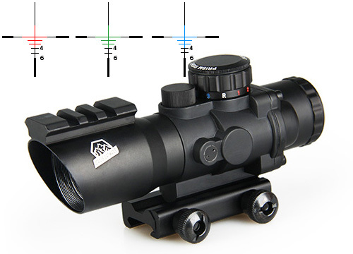 Фотография New Arrival 4x32 Dual Illumination Tactical Compact Scope Without Fiber Optic Sight CL1-0187