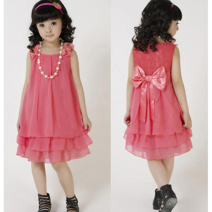 Designer Clothing For Toddler Girls Girl dress Necklace lace red