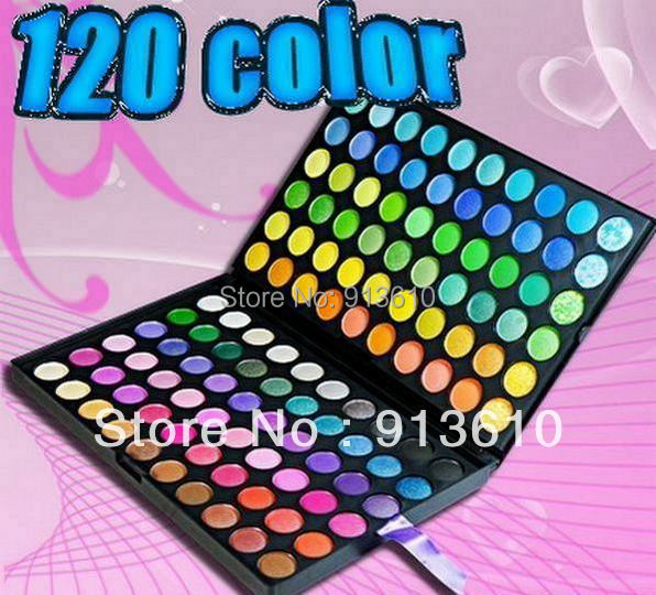 10 pcs new professional makeup 120 colors eyeshadow palette!(China (Mainland))