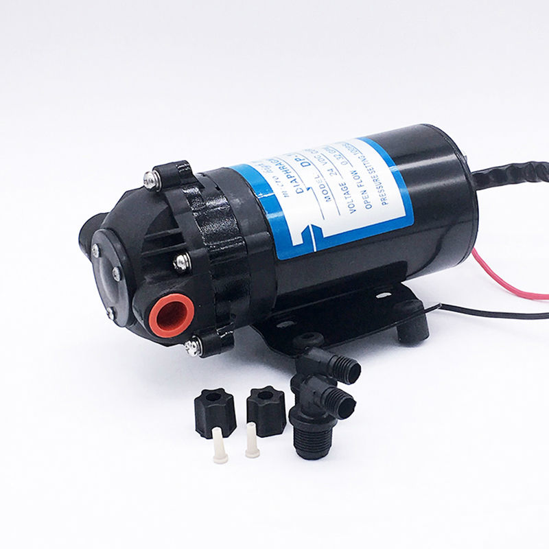 Mini Diaphragm Vacuum Water Pump DP-100 DC 24V CE Approved High Pressure Spray General Industrial Equipment RO System(China (Mainland))