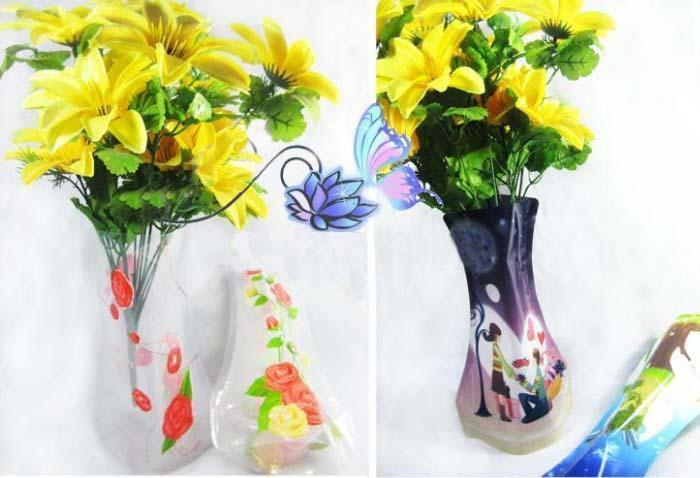 10 Pieces Beautiful Pvc Big Plastic Flower Vase Pop Up