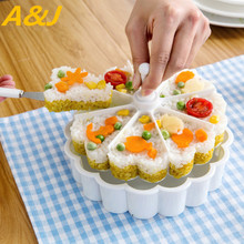 2pieces/set DIY Sushi Maker Kitchen Accessories Jelly Variety Ice Rice Eco Plastic Mold Attractive Children Cooking Tools Boat