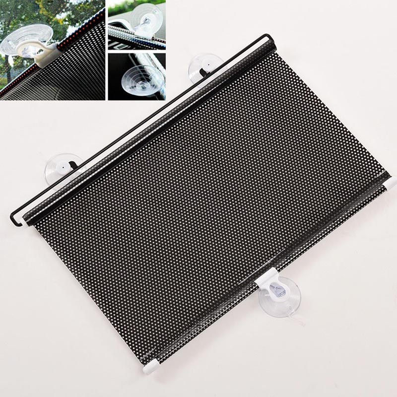 Mayitr 125*40cm Auto Accessories Retractable Side Window Car Sun Shade Curtain Automatic Sunscreen Roller Blinds Window Film(China (Mainland))