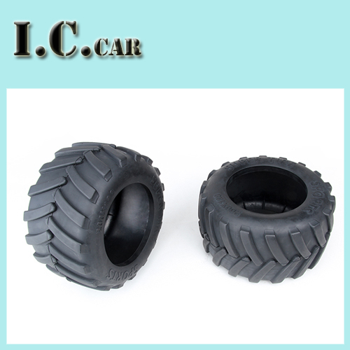 Monster Truck Rubber Tires 2pc For 1/5 FG RC CARS Rovan Parts(China (Mainland))