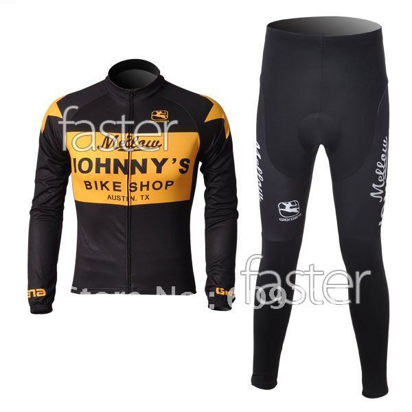 2010 JOHNNY'S Winter Thermal Fleece long Sleeve Cycling Jersey and Pants/Cycling Wear/Cycling Clothing/Bike Jersey