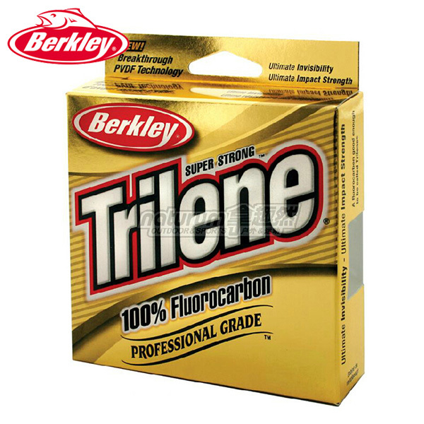Berkley Brand Trilene 100M 110YD 100% Fluorocarbon Fishing Line PVDF Tech Transparent Super Strong Invisibility Leader Line(China (Mainland))