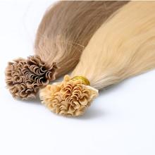 Keratin I U Flat Tip Brazilian Hair 1 gram Each Strand Nail Tip Fusion Human Hair Extension Pre bonded Straight Virgin Hair(China (Mainland))
