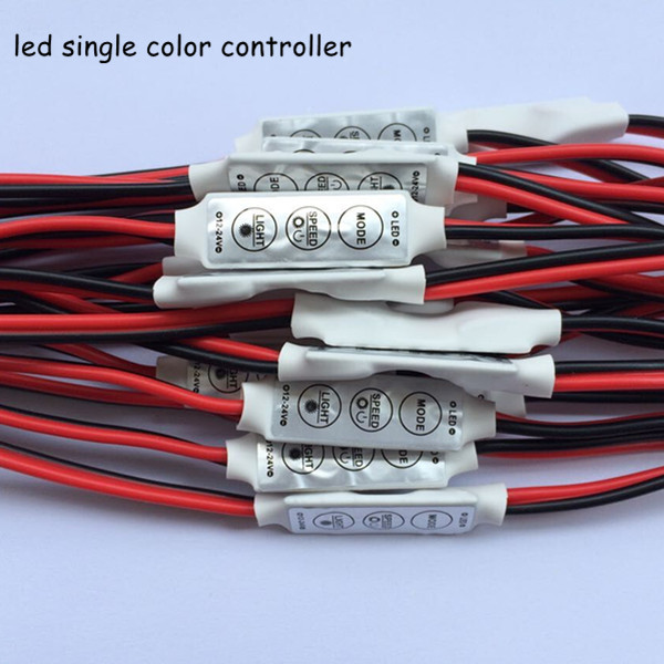 20pcs dc12v 24v 6A mini 3 keys led dimmer 12v controller to control single color strip light smd 3528 5050 5630 free shipping(China (Mainland))
