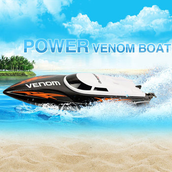 2017 New UDI 001 Mini RC Speedboat Tempo Power Venom 2.4G Remote Control Boat with Auto Rectifying Deviation Direction Function