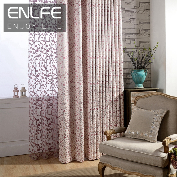 buy readymade window curtains pink voile jacquard. Black Bedroom Furniture Sets. Home Design Ideas