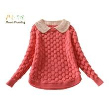 Moon Morning Girls Sweater Spring Pineapple Cotton Pullover Knitted Splice Crochet Lassie Veste Dentelle 12 Adolescent Knitwear