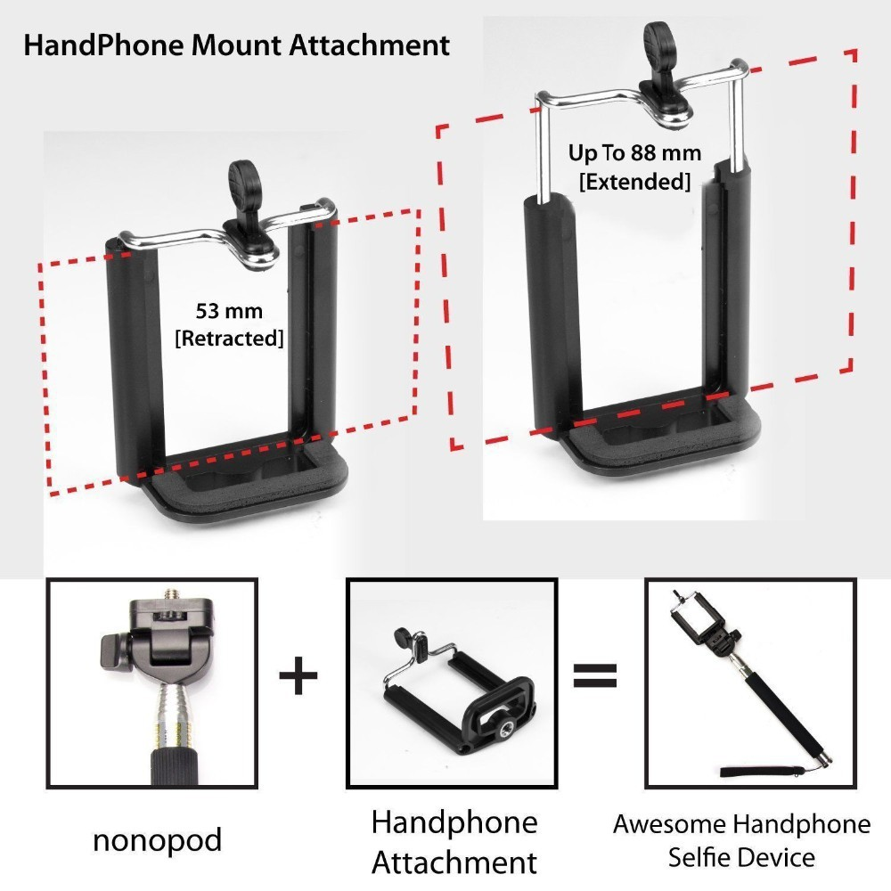 2015 Professional Universal Extendable Monopod Selfie Stick Phone Camera Self Portrait Clip Holder Bluetooth For Android