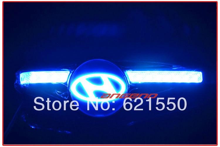 New Universal Modern Car Logo Fender Side Marker Blade Steering Lamp Double Color Car LED Turn Signal Direction Decoration Light(China (Mainland))