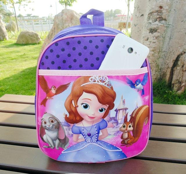 София первый софия принцесса мешок школы софия рюкзак мультфильм сумка для девочки