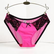 Hot sale! l women's sexy lace panties seamless cotton breathable panty Hollow briefs Plus Size lady underwear