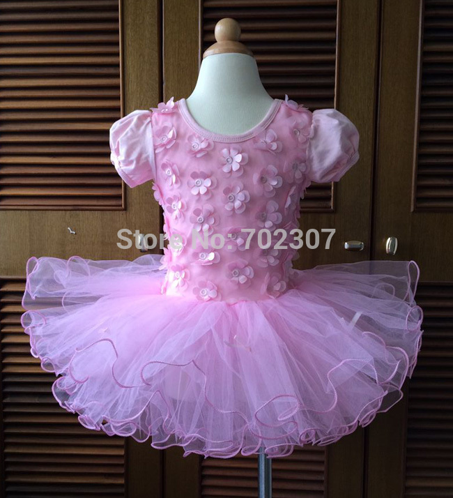 Wholesale new style girl dress, pink flower girl dance party dress, baby petti  5pcs/lot free shipping T-01<br><br>Aliexpress
