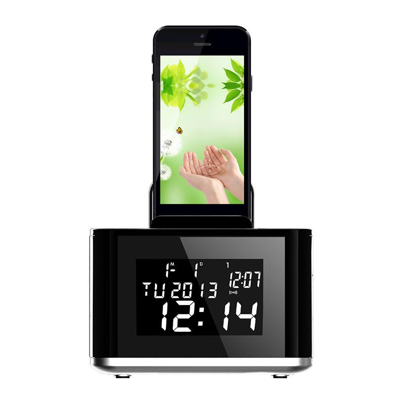 New AJ86 With Stand Bedside Radio usb Pportable Waterproof Bluetooth Audio Receiver Speaker Wireless Bluetooth Stereo speakers(China (Mainland))