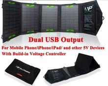 2015 new folding 16W solar charger / portable mobile panel solar / monocrystalline silicon solar panel / imax b6 power bank(China (Mainland))