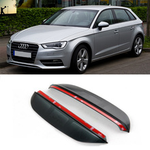 Buy FOR AUDI A3 Third generation 2012 now Carbon rearview mirror rain eyebrow Rainproof Flexible Blade Protector Car Styling for $7.10 in AliExpress store