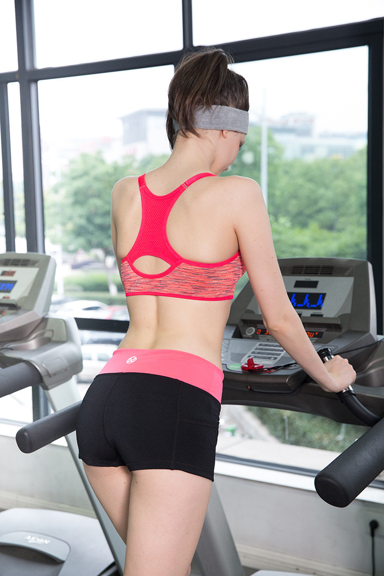 2015 Women Sport Bra Vest Full Coverage Seamless Padded Corsets underwear Running Jogging crop top