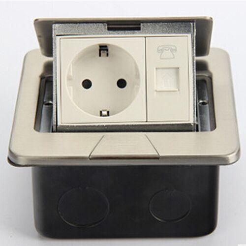 European Thin Telephone Floor Socket pop up type free shipping(China (Mainland))