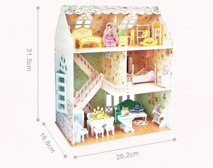product Diy Wooden Doll house Miniatura 3D Puzzle Kits Children Toys Furniuture Assembles Model Birthday Christmas Gift-Nordic