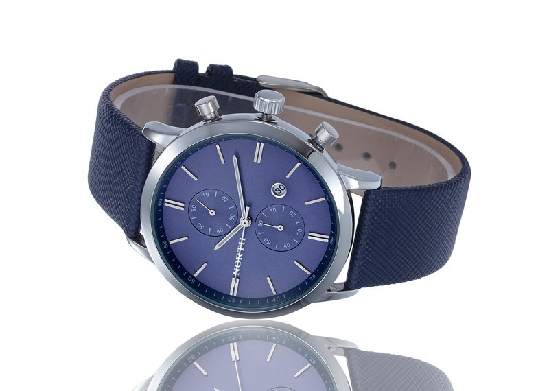 New Fashion Brand NORTH Watch men Sports Quartz Watches Men s Slim Case Date Display Strap