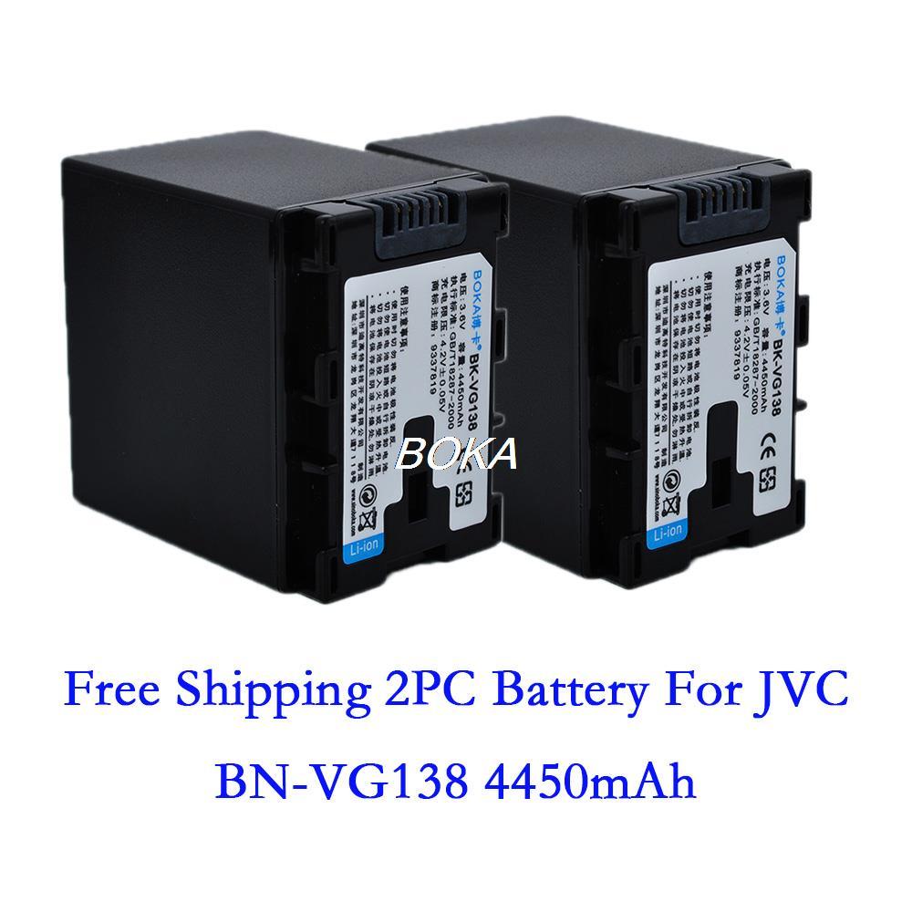 Аккумулятор для фотокамеры BOKA 2pc 3.6V 4450mAh bn/vg138 JVC bn/vg107u bn/vg107us bn/vg107usm For BN-VG107U BN-VG107US BN-VG107USM цена