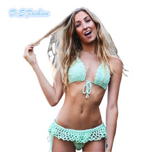 Swimsuit Beachwear 2015 Crochet Bikini Sexy Brazilian Swimwear Women Bathing Suits Handmade Crop Top Mokokini Biquini
