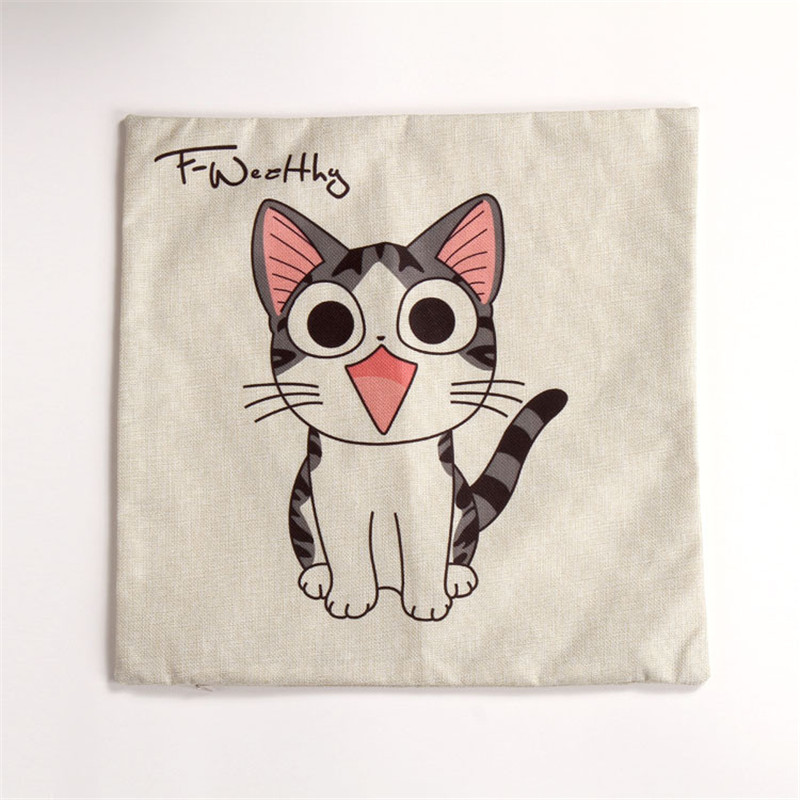 45cm 45cm Car Cute Cat Printed Cushion CoverAnimal 3d 1 side printing Decorative Throw Pillows Cover