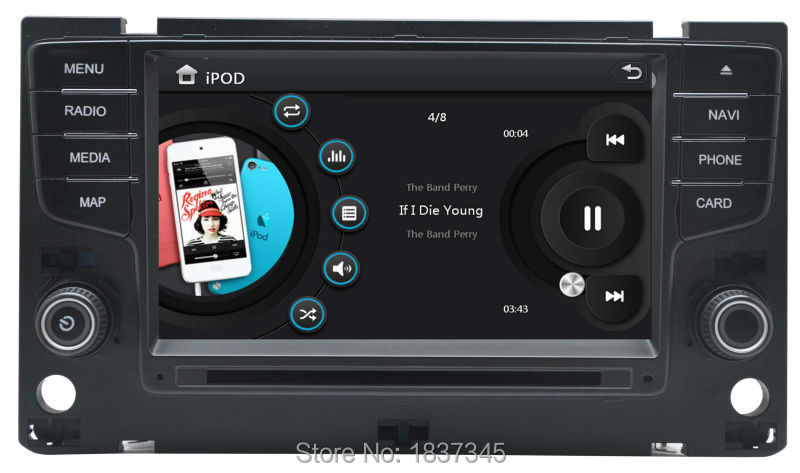 """7"""" China car audio for vw golf 7 MK7 with gps,bluetooth,rds,sd,usd ,dvd,air condition,OPS ,Mirror Link function(China (Mainland))"""